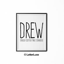 Drew Printable Kids Decor - Baby Shower Decoration Idea - LetterLuxe