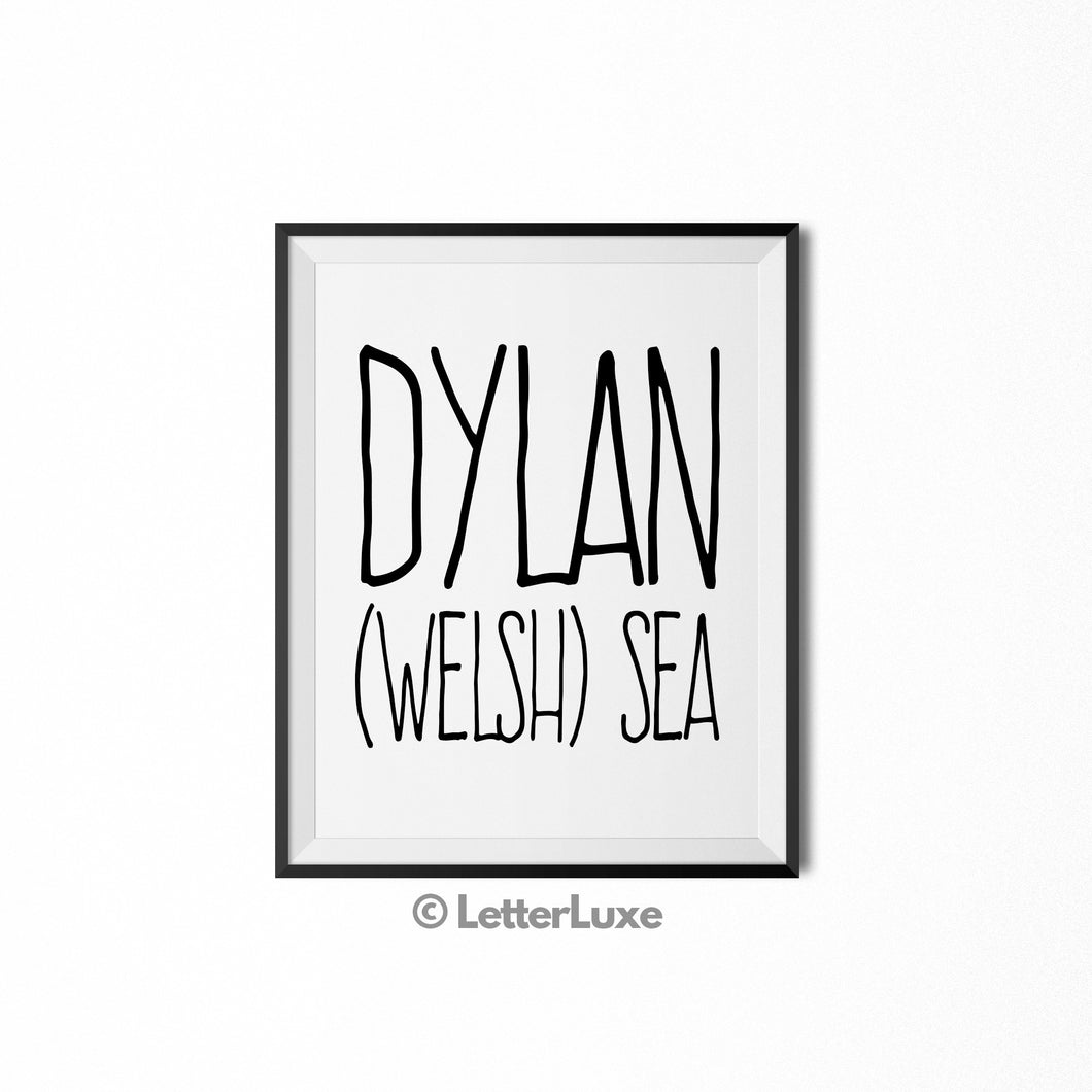 Dylan Printable Kids Decor - Birthday Party Decoration Idea - LetterLuxe