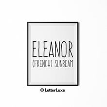 Eleanor Printable Baby Shower Gift - Nursery Wall Art - LetterLuxe