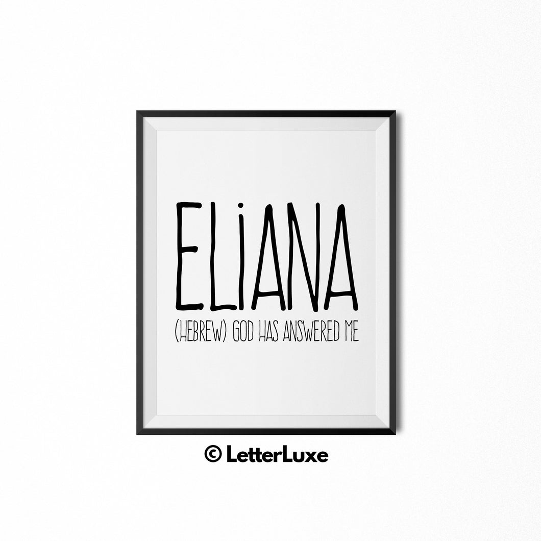 Eliana Printable Bedroom Decor - Birthday Gift Idea for Women - LetterLuxe