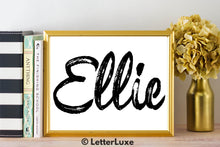 Ellie Name Art - Printable Gallery Wall - Romantic Bedroom Decor - Living Room Printable - Last Minute Gift for Mom or Girlfriend - LetterLuxe
