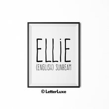 Ellie Printable Bedroom Decor - Birthday Party Decoration Idea - LetterLuxe