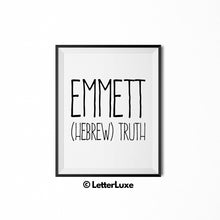 Emmett Printable Bedroom Decor - Birthday Party Decoration Idea - LetterLuxe