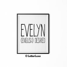 Evelyn Printable Bedroom Decor - Birthday Party Decoration Idea - LetterLuxe