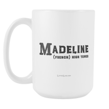 Madeline Name Meaning Mug - 15oz Coffee Cup - Birthday Gift - Personalized Office Mug - Best Friend Gift Idea - LetterLuxe