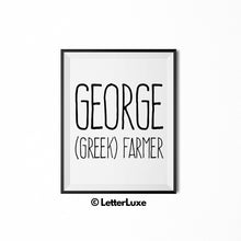 George Name Meaning Art - Typography Wall Decor - LetterLuxe