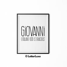 Giovanni Printable Kids Decor - Baby Shower Decoration Idea