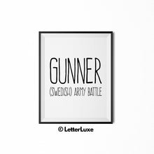 Gunner Personalized Nursery Decor - Baby Shower Decorations