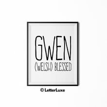 Gwen Printable Kids Decor - Birthday Party Decoration Idea - LetterLuxe