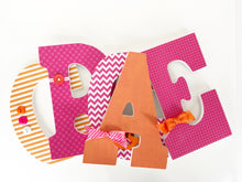 Pink & Orange Letter Set - Baby Girl Nursery Decor - LetterLuxe