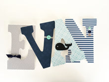 Teal, Aqua, and Navy Blue Letter Set - Nursery Decorations for Baby Boys - LetterLuxe - LetterLuxe