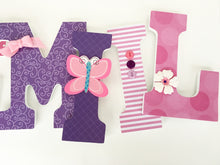 Pink & Purple Letter Set - Baby Girl Nursery Decor - LetterLuxe