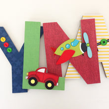 Transportation Letter Set - Train, Truck, & Airplane Nursery Decor - LetterLuxe