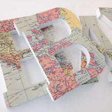 world map letters