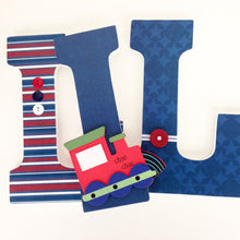 Train Letter Set - Baby Boy Nursery Decor - LetterLuxe - LetterLuxe