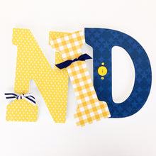 Navy Blue & Yellow Letter Set - Alligator Nursery Decor - LetterLuxe - LetterLuxe