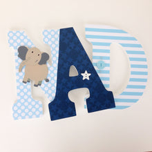 Navy Blue & Light Blue Letter Set - Baby Boy Nursery Decor - LetterLuxe - LetterLuxe