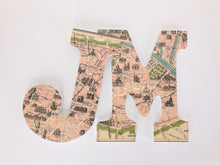Paris Map Letter Set - Travel Nursery Wall Decorations - LetterLuxe