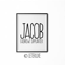 Jacob Printable Kids Decor - Baby Shower Decoration Idea - LetterLuxe