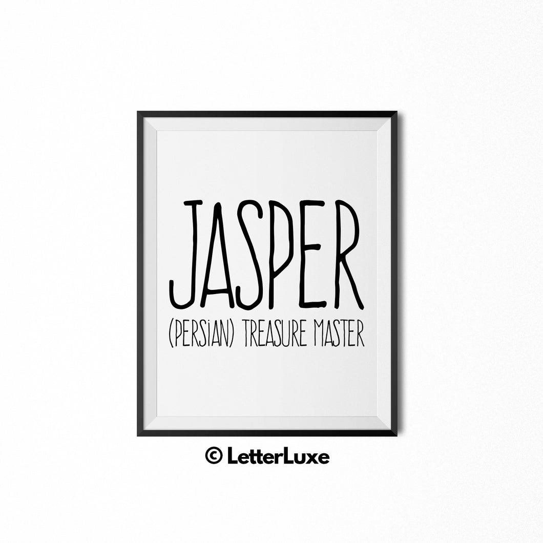 Jasper Printable Kids Gift - Typography Wall Decor