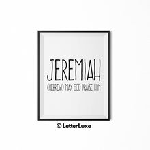 Jeremiah Digital Name Meaning Wall Art - LetterLuxe
