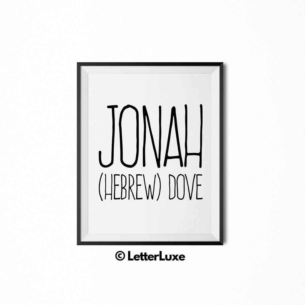 Jonah Personalized Nursery Decor - Baby Shower Decorations - LetterLuxe