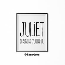 Juliet Digital Bedroom Decor - Birthday Party Decoration Ideas - LetterLuxe
