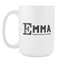 Emma Name Meaning 15oz Mug - Birthday Gift - Best Friend Gift Idea - LetterLuxe