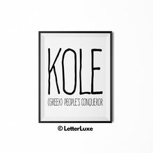 Kole Personalized Nursery Decor - Birthday Party Decoration Ideas for Boys - LetterLuxe