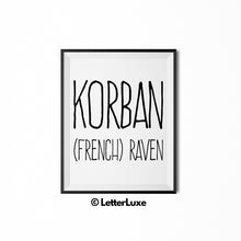 Korban Name Meaning Nursery Decor - Personalized Adoption Gift Idea