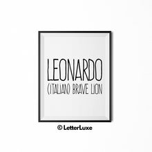 Leonardo Printable Kids Decor - Baby Shower Decoration Idea