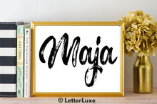 Maja Name Art - Printable Gallery Wall - Romantic Bedroom Decor - Living Room Printable - Last Minute Gift for Mom or Girlfriend