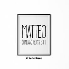 Matteo Printable Kids Gift - Baby Boy Room Decor