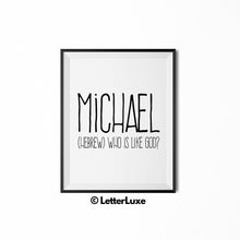 Michael Digital Name Print - LetterLuxe