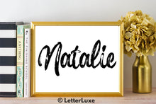 Natalie Name Art - Printable Gallery Wall - Romantic Bedroom Decor - Living Room Printable - Last Minute Gift for Mom or Girlfriend - LetterLuxe