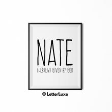 Nate Personalized Bedroom Decor - Birthday Party Decorations for Boys - LetterLuxe