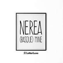 Nerea Name Definition Poste - Birthday Gift - LetterLuxe