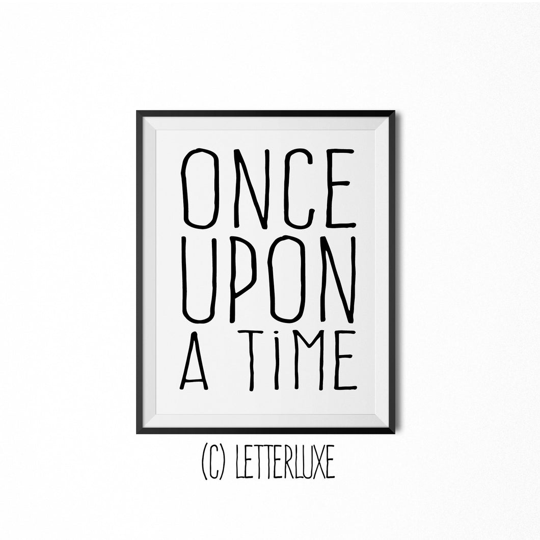 Once Upon a Time - Fairytale Bedroom Wall Art - LetterLuxe