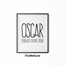 Oscar Printable Bedroom Decor - Birthday Gift Idea for Boys - LetterLuxe