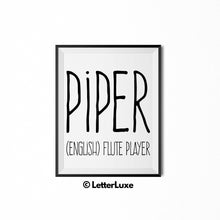 Piper Printable Bedroom Decor - Parental Leave Gift - 1st Birthday Party Decoration Idea - LetterLuxe