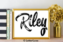 Riley Name Art - Printable Gallery Wall - Romantic Bedroom Decor - Living Room Printable - Last Minute Gift for Mom or Girlfriend - LetterLuxe