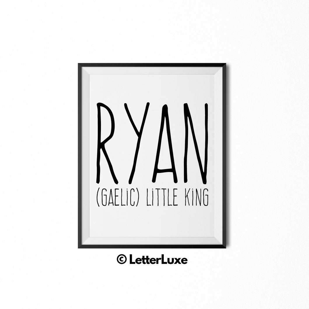 Ryan Printable Kids Gift - Digital Download - LetterLuxe