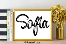 Sofia Name Art - Printable Gallery Wall - Romantic Bedroom Decor - Living Room Printable - Last Minute Gift for Mom or Girlfriend