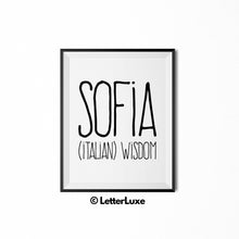 Sofia Printable Bedroom Decor - Birthday Party Decoration Idea - LetterLuxe