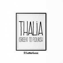 Thalia Printable Bedroom Decor - Birthday Gift Idea for Women, Girl, Sister, Daughter, Mom - LetterLuxe