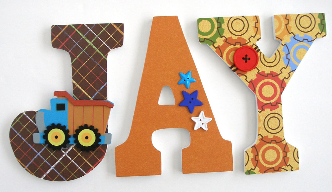 Construction Letter Set - Baby Boy Nursery Decor - LetterLuxe - LetterLuxe
