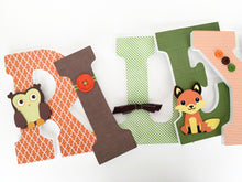 Orange, Green, & Brown Letter Set - Nursery Décor for Boys - LetterLuxe