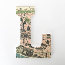 Paris Map Letter Set - Travel Nursery Wall Decorations - LetterLuxe - LetterLuxe