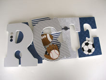 Navy Blue & Gray Letter Set - Baby Boy Nursery Decor - LetterLuxe - LetterLuxe