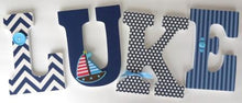Nautical Letter Set - Nursery Décor for Boys - LetterLuxe - LetterLuxe
